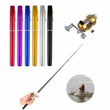 Mini Fishing Rod With Reel Wheel Pen Shape Folded Small Fishing Rods