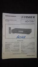 Fisher ad-724 v service manual original repair book stereo cd player