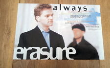 ERASURE 'Always' lyrics Centerfold magazine POSTER  17x11 inches