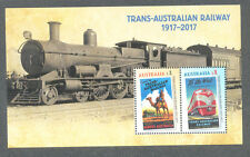 Australia-Trans-Australian Railway Min sheet July 2017 mnh