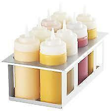 Server 86974 Stainless Cold Table Squeeze 8-Bottle Condiment Dispenser/Holder