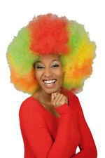 Peluca Afro XL multicolor Peluca Afro rizos P. para hippie kostüm.clown