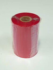 1 x Red Thermal Wax Resin Ribbon - 450m x 110mm Rolls
