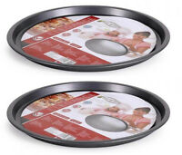 2X NON STICK Oven kitchen pizza tray 29.5x1.5cm-0.5mm CARBON STEEL SAN IGNACIO