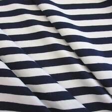 Stoff Meterware Baumwolle Jersey marine weiß Ringeljersey Streifen gestreift Neu