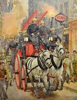 Poster Firefighters 19th By Lane 1899