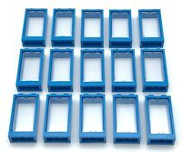 Choose the colour New Lego parts x4 Window Frame 1 x 2 x 3 Flat Front w// Glass