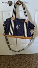 "Pottery Barn Kids Diaper Bag & Changing Pad, Navy Blue, ""M"" Monogram"
