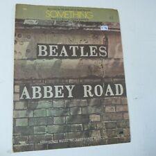 songsheet SOMETHING. Beatles, 1969