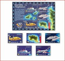 JER94078 Transport by land, sea, air 5 stamps and sheet