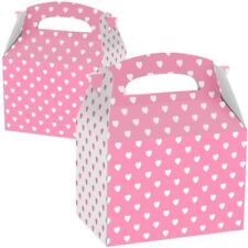Favours Party Boxes Pink & White Hearts Valentines Birthday Party Favour