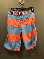 Quick Silver Blue And Coral Boys Medium Swim Shorts