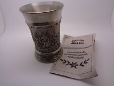 GERMAN PEWTER FRIELING ZINN TUMBLER GERMAN MADE (ref37.1)