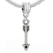Arrow Charm European Bead Compatible for Most European Snake Chain Bracelet