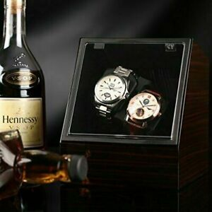 Double Watch Winder Box Watch Automatic Winder Luxury Rotation Display Case UK