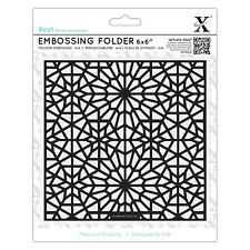 "Docrafts Cartella di Goffratura 6x6"" Marocchino Star Pattern Uso Sizzix Xcut eBosser"