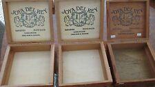 Joya del Rey cigar box collectible lot of three (3)