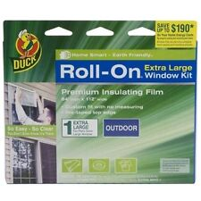 """New Duck Roll-On 84"""" by 112"""" Single Extra Large Outdoor Window Premium Film Kit"""