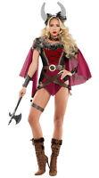 Sexy Starline Voluptuous Viking Warrior Red & Black Bodysuit Costume S6083