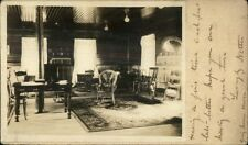 Room Interior - Photo Posted on Postal Card - Lawrence MA Cancel 1908