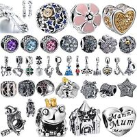 New Fashion Bling Crystals Jewelry Beads Charms For Sterling 925 Silver Bracelet
