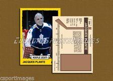 Jacques Plante - Toronto Maple Leafs - Custom Hockey Card  - 1972-73