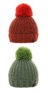 Adult Mens Chunky Knitted Soft Beanie Cap Bobble Hat Winter Fashion