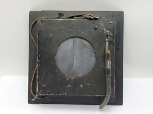 """Vintage Packard Ideal Air Shutter 3 1/2"""" 3.5"""" Opening on 9x9 Lens Board"""