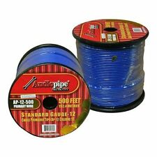 12 Gauge 500' Blue Audiopipe Car Audio Home Primary Cable Remote Wire