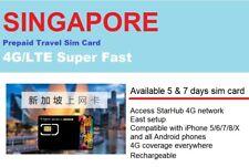 Singapore Travel -5 days Prepaid data SIM card UNLIMITED DOWNLOAD StarHub 4G