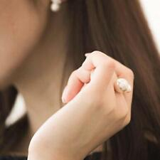 Silver Fashion Women Ring Jewelry Pearl Open