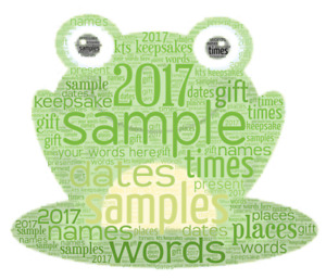 word art picture personalised gift present keepsake Next day Last minute EMAIL