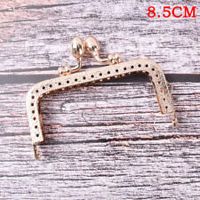 Light Gold DIY Purse Handbag Handle Coin Bag Metal Kiss Clasp Lock Framehandlese 8.5cm