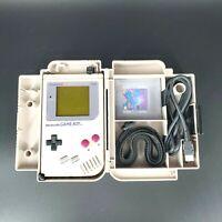 Nintendo Gameboy Original DMG-01 w/Tetris & Nexoft Carryall Case (Screen Lines)