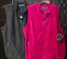Karen Scott Women's Zero Proof Vest, Charcoal Gray/Cranberry Rose Plus Sizes