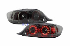 For Mazda RX8 2004-2008 LED Tail Lights Rear Lamps Chrome Housing Smoke JDM