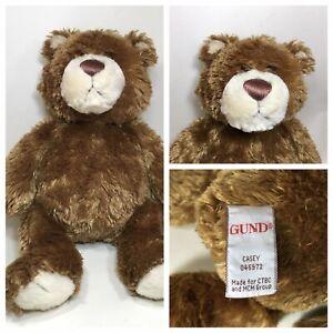 """Gund Teddy Bear Casey Brown Bear Retired Soft & Cuddly Plush 11"""""""