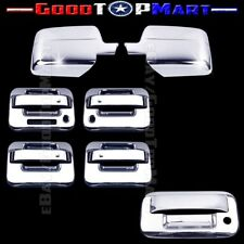 For Ford F150 2004-2008 Chrome Covers Set Mirrors+4 Doors KEYPAD/KH+Tailgate KH