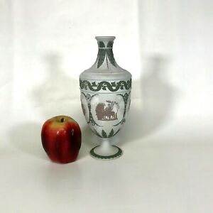 19th Century Wedgwood Tri Color Jasperware Lilac Green Bud Vase Urn