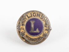 "LIONS ""L"" INTERNATIONAL TWIST ON BACKING BROOCH/ PIN FASHION  0053"