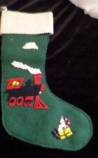 "Vintage 1950s Train Felt Christmas Stocking 13"" *FROM MOVIE STAR ESTATE*"