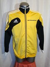 Boys/Men's ADIDAS Tracksuit Top Black & Yellow Casual Terrace Jacket sz 176/ XLB