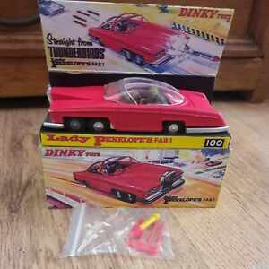 Dinky 100 FAB 1 Thunderbirds Rare Fluorescent Pink Gerry Anderson ITC TV SERIES