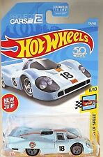 2018 Hot Wheels #124 Legends of Speed 8/10 Gulf Porsche 917 Lh Blue w/Gray 5 sp