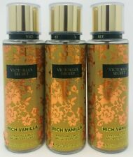 3 Victoria's Secret Fragrance Perfume Body Mist For Women Rich Vanilla 8.4 oz