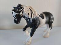 2003 SCHLEICH rare BLACK white gypsie SHIRE HORSE FIGURE - FREE POST