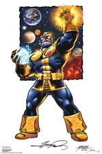 George Perez SIGNED Thanos / Infinity Gauntlet Marvel Comic Art Print AVENGERS