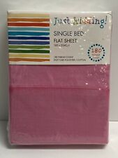 Single Bed Flat Sheet Pale Pink 180 Thread Count 160x254cm 30256