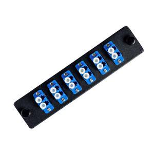 LGX Footprint Fiber Patch Panel | 6 Duplex Singlemode Blue LC Adapters