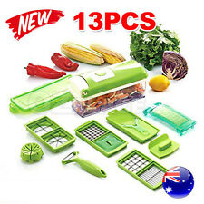 13 PCS Super Slicer Plus Vegetable Fruit Peeler Dicer Cutter Chopper Nicer